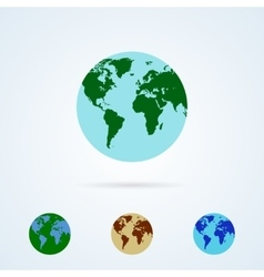 Set from Colorful Globe Icons vector image