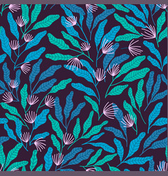 Simple botanical pattern vector