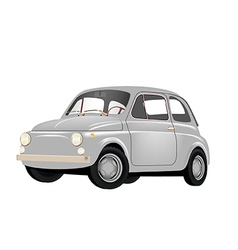Small Retro Car vector image