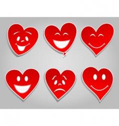 Smile hearts vector