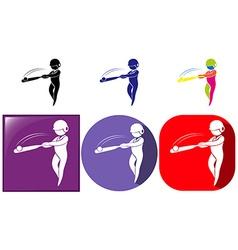Sport icon design for baseball vector image