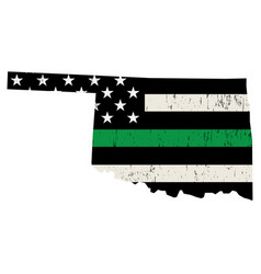 State oklahoma military support american flag vector