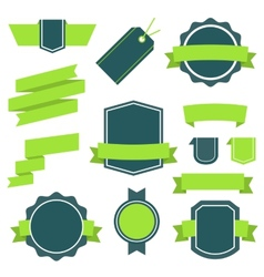 Stickers and Badges Set 10 Flat Style vector