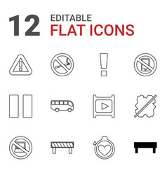 stop icons vector image
