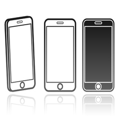 technology icon of a modern phone vector image