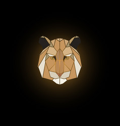 Tiger head polygonal animal vector