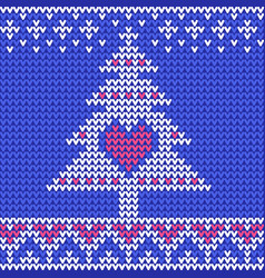 traditional fair knitted pattern christmas and vector image