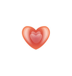 valentines day red heart icon vector image