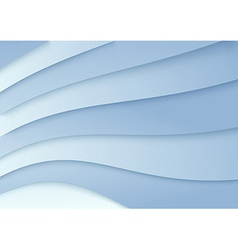 Wavy background in blue color - template vector