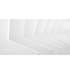 White interior with walls vector image