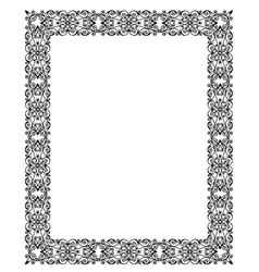 white lace frame vector image