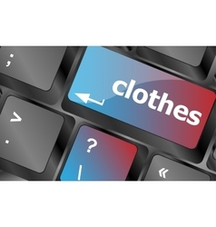 Clothes button on computer keyboard keyboard vector