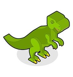 Dinosaur tyrannosaurus isometric prehistoric vector