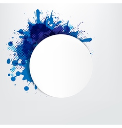 Grunge Background With Blue Speech Bubble vector image