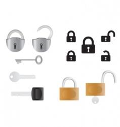 locks and keys vector image vector image