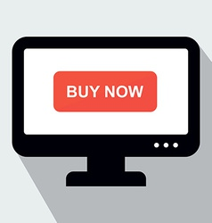 Monitor with Button Buy Now Concept of Online Shop vector image vector image