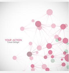 network connect or molecule set vector image vector image
