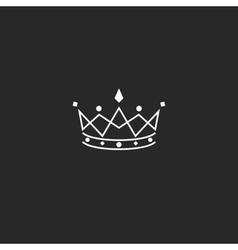 Royal symbol icon monogram crown logo beauty vector image
