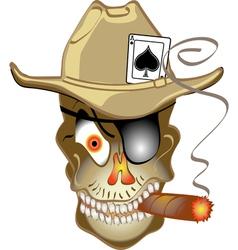 Skull bandit vector image vector image