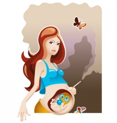 smoking and pregnancy vector image vector image