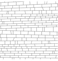 brickwork black and white texture vector image vector image