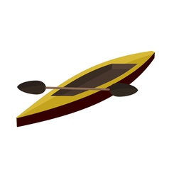 canoe paddle EPS10 vector image