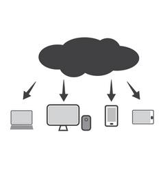 cloud technology icon web cloud technology vector image