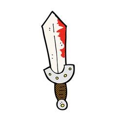 comic cartoon viking sword vector image