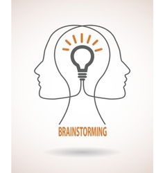 Concept of business idea and brainstorming vector image vector image