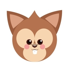 Cute baby chipmunk cartoon vector image