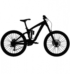 downhill mountain bike vector image vector image