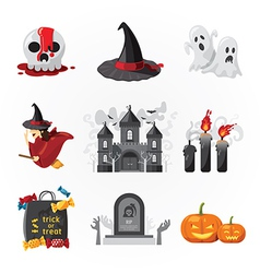 halloween icons design vector image