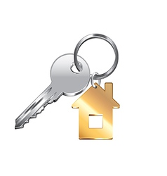 house key isolated vector image vector image