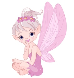 Listening fairy vector image vector image