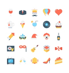 Party and Celebration Icons 3 vector image