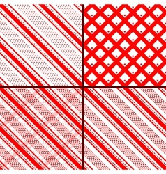 red oblique striped patterns vector image