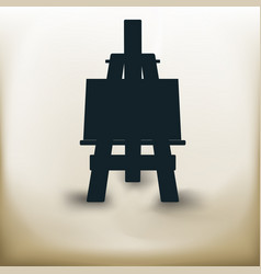 simple easel vector image