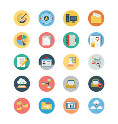 Universal Web Flat Colored Icons 3 vector image vector image