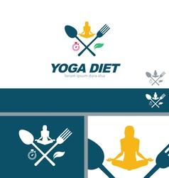 Yoga Diet Wellness Health Concept Design Element vector image vector image