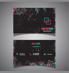 halftone dots business card vector image