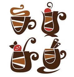 sweet drinks vector image vector image
