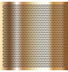 Gold background perforated sheet vector image