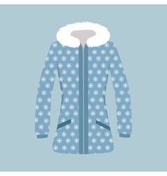 Male and Woman Winter Jacket vector image