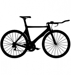 time trial road bike vector image vector image