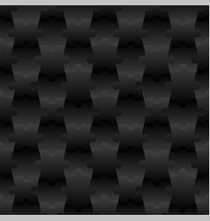3d jigsaw tile seamless pattern black 001 vector image