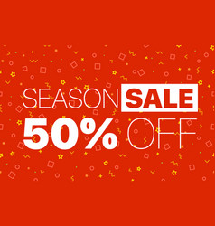 abstract color sale banner template season sale vector image