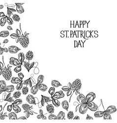 abstract natural st patricks day template vector image