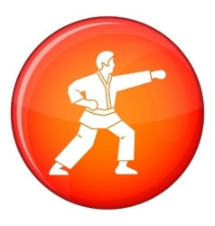 Aikido fighter icon flat style vector