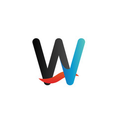 alphabet logo graphic template vector image