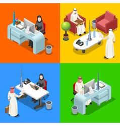 Arab Businessman Isometric People vector